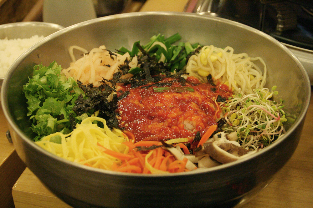 day 2 korean food - bibimbap