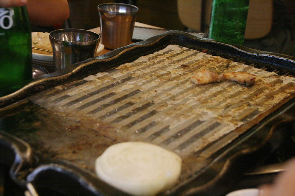 day 4 samgyeopsal korean food