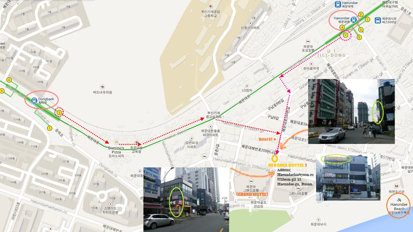 hi korea hostel map busan