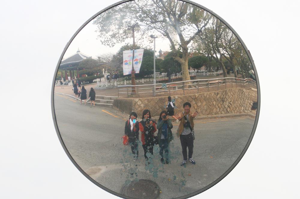 busan tower concave mirror