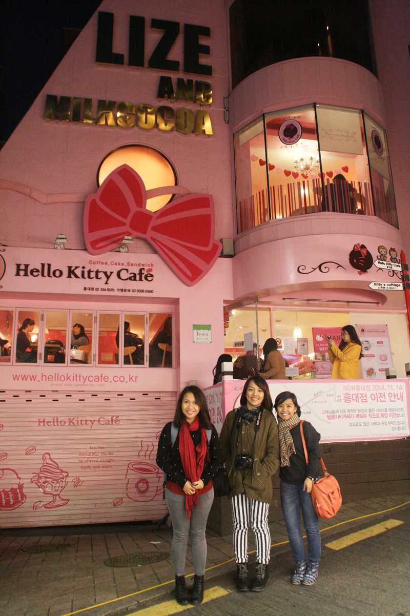 hello kitty cafe hongdae, seoul