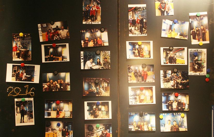 sunny hostel picture board