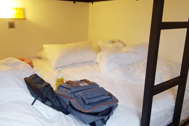 sunny hostel room